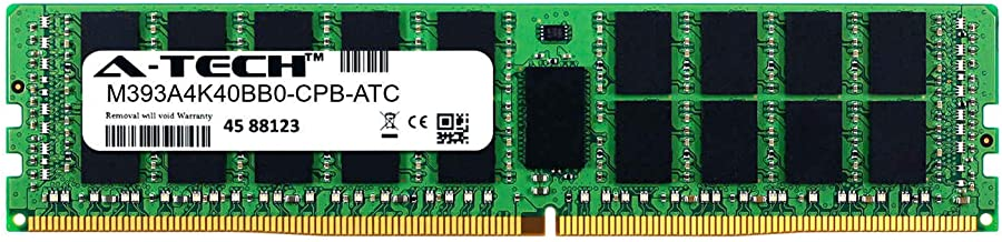 A-Tech 32GB Replacement for Samsung M393A4K40BB0-CPB - DDR4 2133MHz PC4-17000 ECC Registered RDIMM 2rx4 1.2v - Single Server Memory Ram Stick (M393A4K40BB0-CPB-ATC)