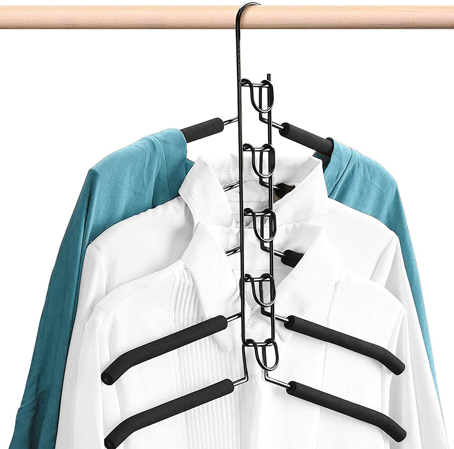 lowest price AHEYHOM Hangers Space Saving 5 in Non-Slip 1 Magic Indianapolis Mall Metal Clothes