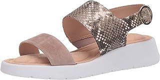 Taryn Rose Women's Ankle Strap Wedge Sandal, Natural, 6
