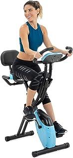 Lanos Folding Exercise Bike with 10-Level Adjustable Magnetic Resistance   Upright and Recumbent Foldable Stationary Bike ...