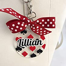 Playing Cards Suits Bag Tag Personalized with Your Name and Your Colors