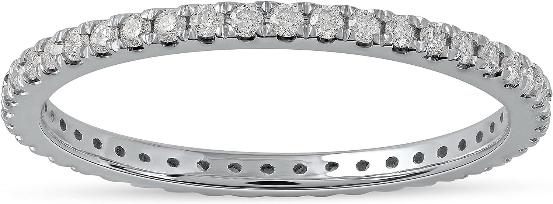 IGI Certified 14k Gold 1/3ct TDW Diamond Eternity Wedding Band (H-I, I2)