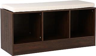 AmazonBasics – Banco-estantería de 3compartimentos cúbicos, Espresso