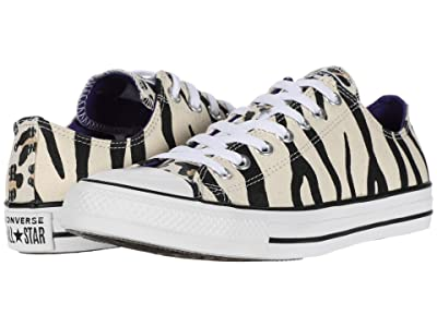Converse Chuck Taylor All Star Animal Print Ox (Driftwood/Black/Light Fawn) Athletic Shoes