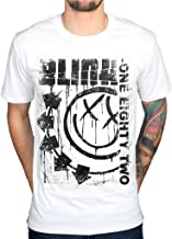 AWDIP Men's Official Blink 182 Spelled Out One Eighty Two T-Shirt