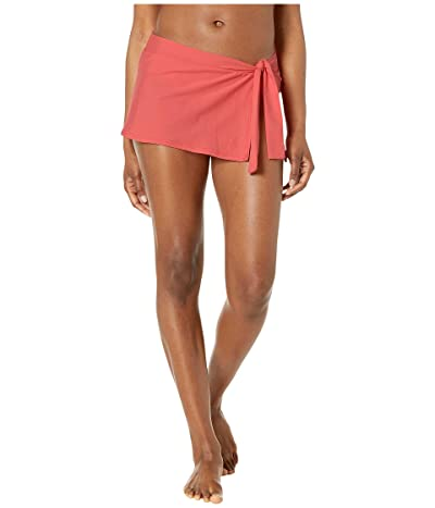 Tommy Bahama Pearl Skirted Hipster Bikini Bottom (Paradise Coral) Women