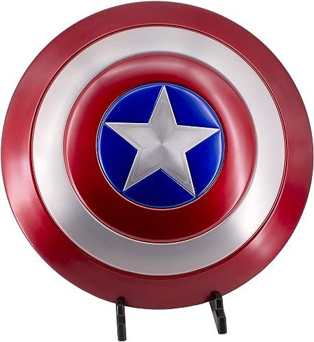Escudo de Capitán América de Los Vengadores - Avengers de Marvel, con Soporte, réplica no Oficial