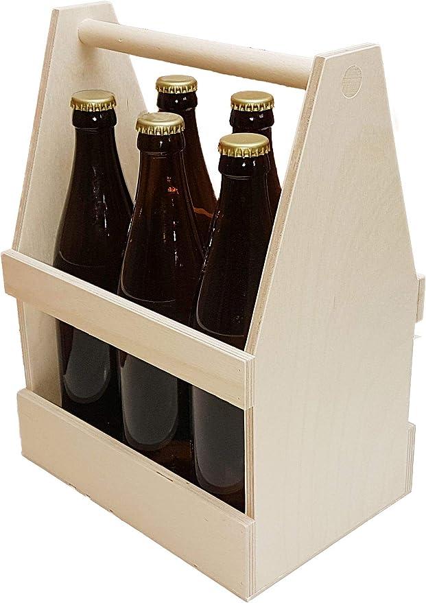 Flaschenträger Männertasche 6 Flaschen 21x15x14cm grau Bier Bierträger Sixpack