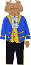 Disney Beauty and The Beast Hooded Costume Coverall with Hair Tail Ears