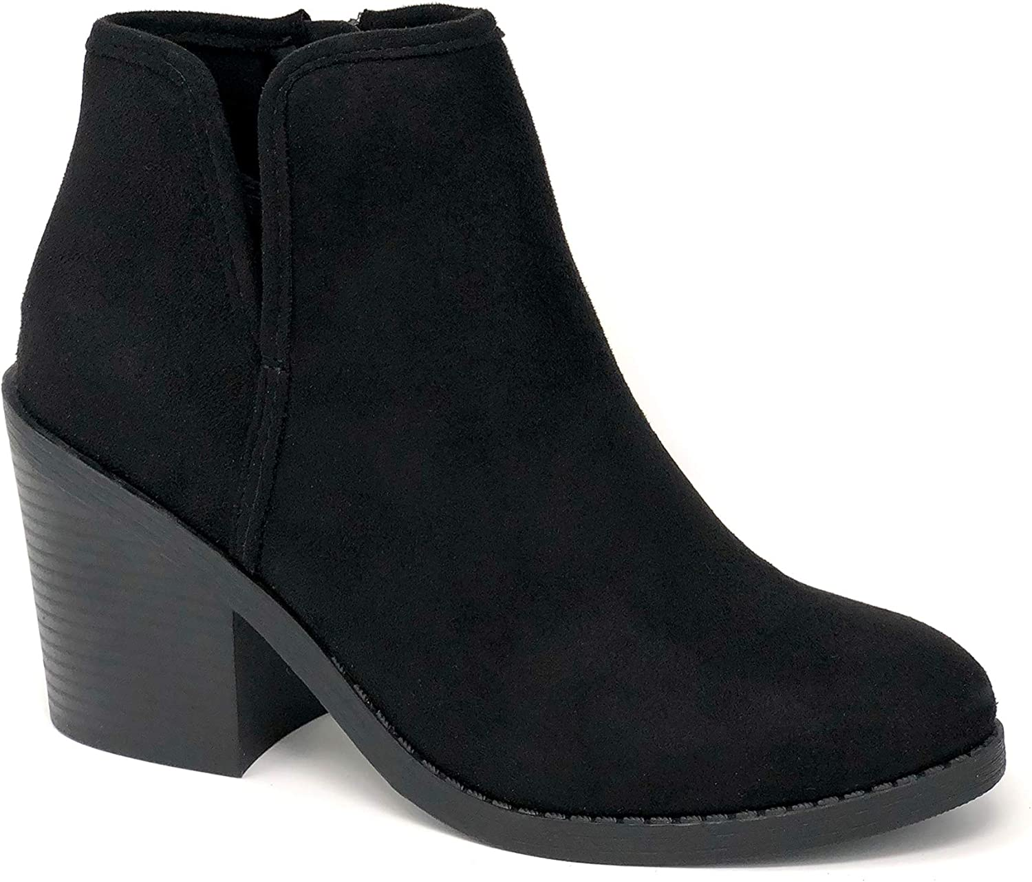 Soda Target Women's Chunky High Heel Ankle Bootie