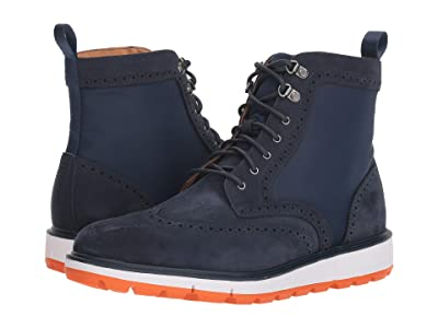 SWIMS Motion Wing Tip Boot (Navy/Orange) Men