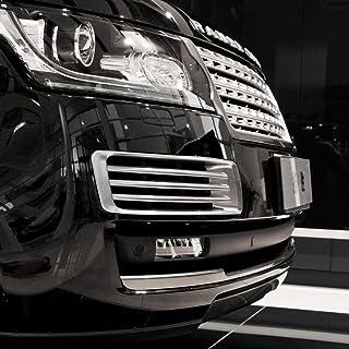 LLKUANG Front Bumper Grille Air Vent Cover for LR Range Rover L405 Vogue 2013-2017 (13-17 Silver)
