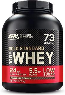 Optimum Nutrition Gold Standard 100% Whey Protéine en Poudre avec Whey Isolate, Proteines Musculation Prise de Masse, Doub...