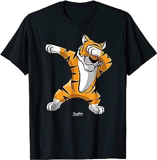 Dabbing Tiger Dab Tiger Safari Funny Tiger Animal T Shirt