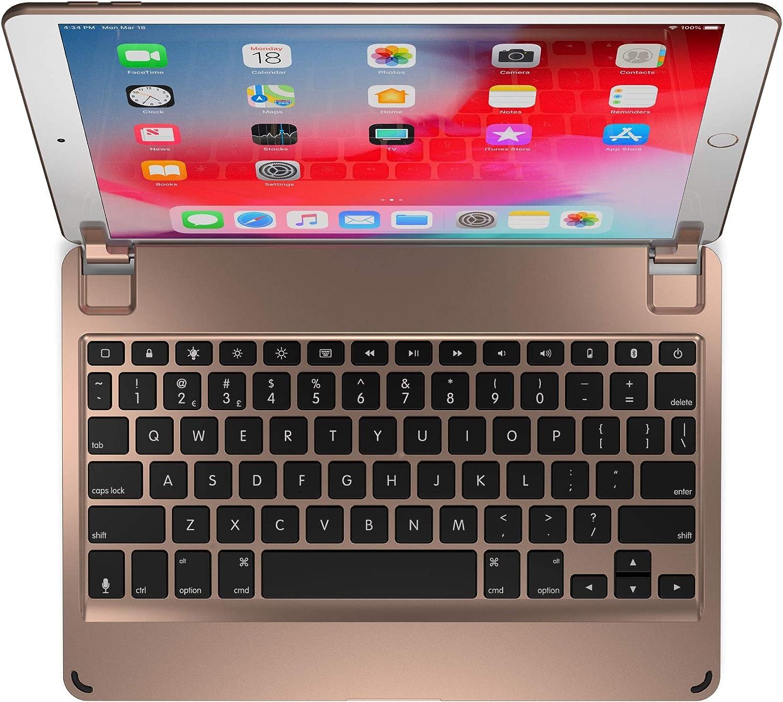 Brydge 10.5 Keyboard for iPad Pro 10.5 inch, Aluminum Bluetooth Keyboard with Backlit Keys (Gold)