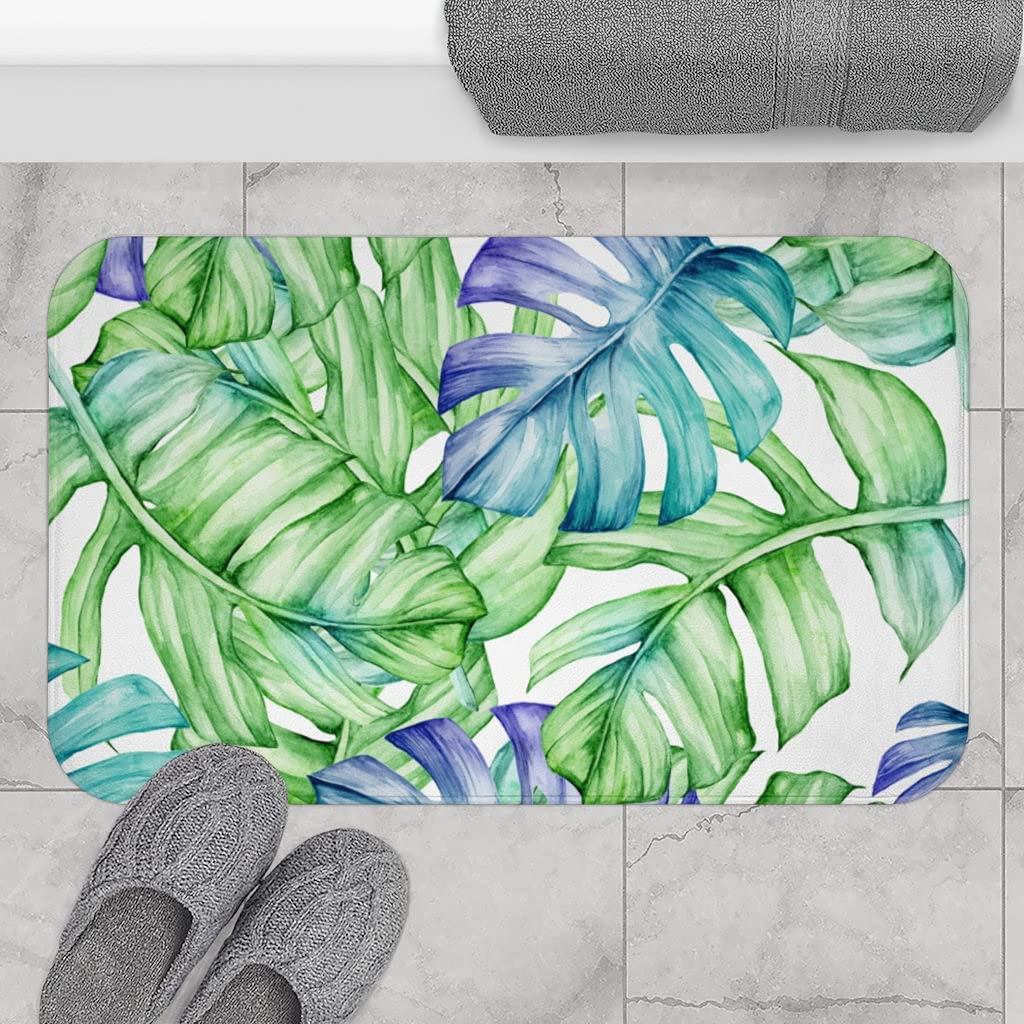 Amazon.com Promini Coral Velvet Bath Mat and Rug Teal Forest ...