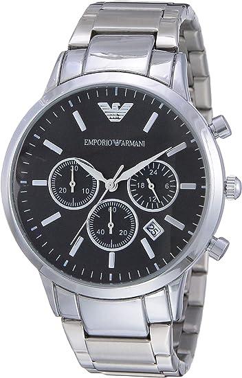 Emporio Armani Reloj Cronógrafo para Hombre de Cuarzo con Correa en Acero Inoxidable AR2434