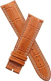 21 mm tan Alligator Style Leather Strap to fit Jager le Coultre Master Compressor 41.5 mm Models