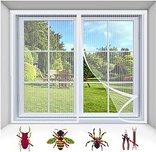 Vliegscherm Mosquito Magnetisch Raamscherm, Mesh Venstergordijnen Netto Fly Mosquito Insecten Scherm, Wit-1, 155X150CM