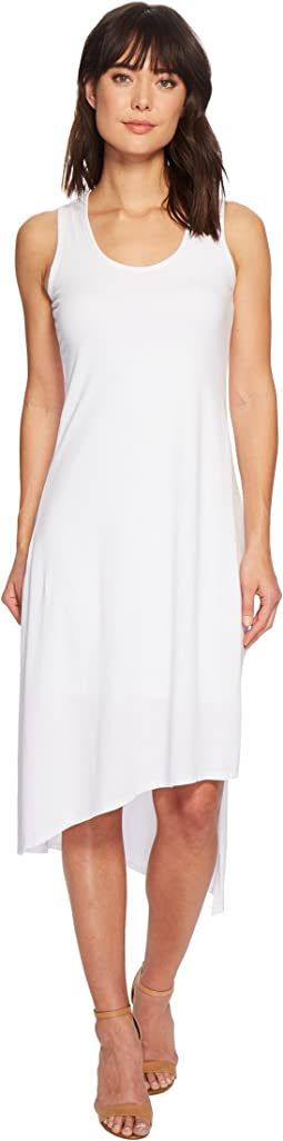 Cotton Modal Spandex Jersey Double Layer High Side Slit Tank Dress