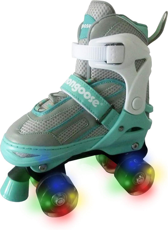 Mongoose Roller Skates for Popularity Girls Wheels Japan Maker New Light Up with Adjustable