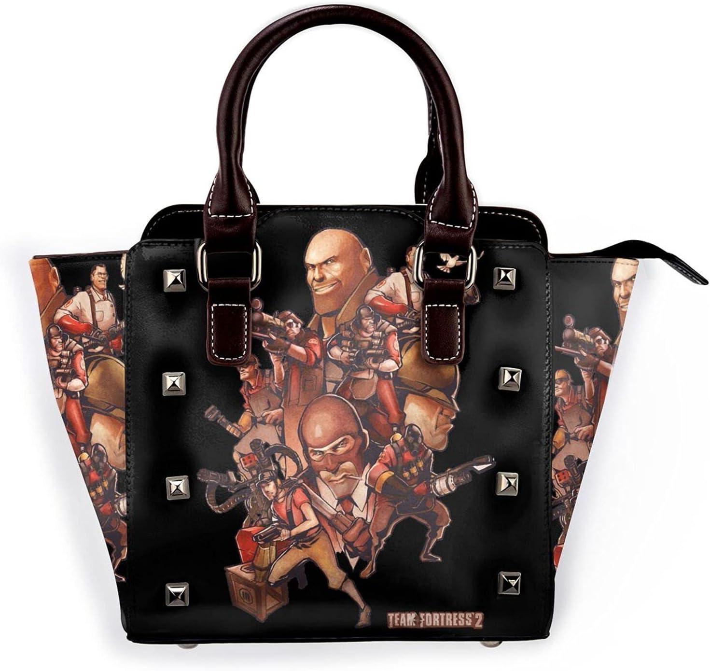 Genuine AYTOYY Team Fortress Fashion Pu Rivet Shoulder Leather Bag Multi Department store