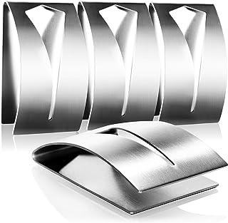 COM-FOUR® 4x Handdoekhaak zelfklevend - Handdoekhouder roestvrij staal - Kapstokhaak badkamer zonder boren (04 stuks)