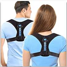 Updated 2021 Version Posture Corrector For Men And Women- Adjustable Upper Back Brace For Clavicle Support and Providing P...