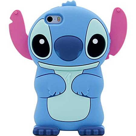 "Blue Stitch Case for iPhone 8/ 7 4.7"",3D Cartoon Animal Cute Soft Silicone Rubber Protective Character Cover,Kawaii Animated Funny Fashion Cool Skin Cases for Kids Child Teens Girls Guys ( i8 4.7"")"