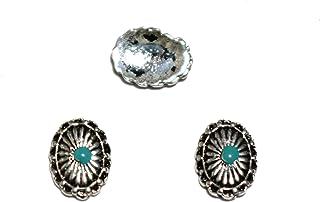 【jewel】エスニック オーバル型 ネイルパーツ ミサンガネイル 2個入り 4種類から選択可能 (アンティークシルバー)