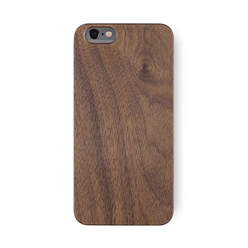 6c4d31e351 iATO iPhone 6 / 6s Walnut Wood Case Real Wooden Premium Protective Snap On  Cover -