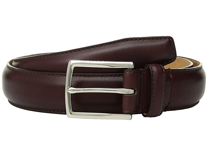 Cole Haan 32 mm. Smooth Leather Pressed Stitch Edge (Cordovan) Men