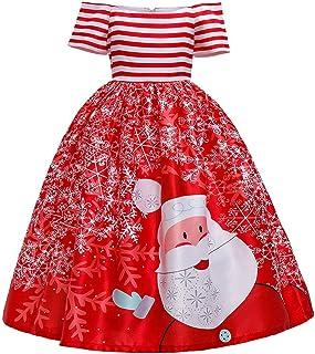 CHICTRY Bambina Vestito Rosso per Natale Elegante Principessa Costume Babbo Natale Manica Lunga Velluto Vestito Birichino Natalizio Cosplay Abito di Natale Cappotto Inverno