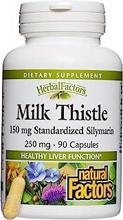Natural Factors Milk Thistle, 250 mg, 90 Capsules