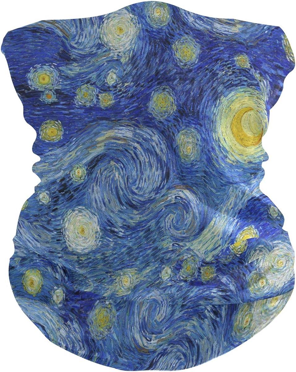 ALAZA Oil Painting Galaxy Nebula Sky Headwear Magic Scarf Headband Bandana Neck Gaiters Outdoor Sports for Women Men
