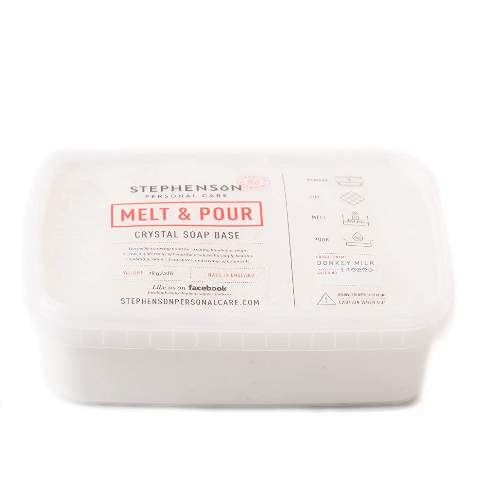 異議シエスタ良いMelt and Pour Soap Base - Donkey Milk SLS FREE - 10Kg