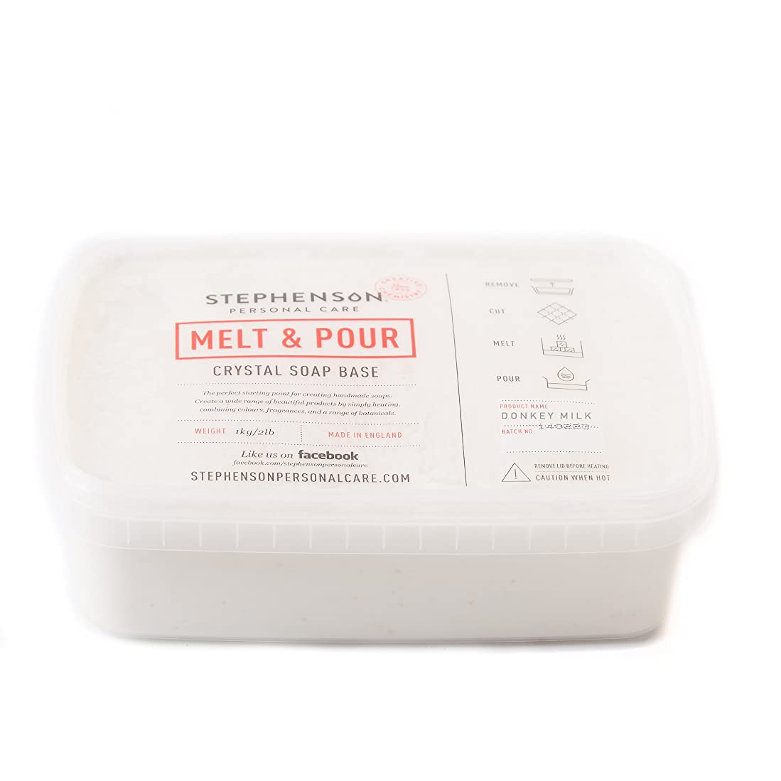 発行遺棄されたエキスパートMelt and Pour Soap Base - Donkey Milk SLS FREE - 5Kg
