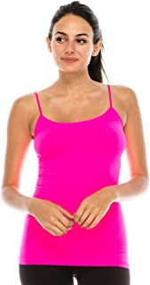 American Made Basic Seamless Cami, UV Protective Fabric UPF 50+ (Made with Love in The USA)