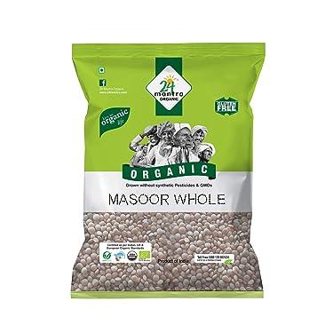 24 Mantra Organic Products Masoor Whole, 500g