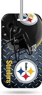 Rico Industries NFL Etiqueta de Equipaje de plástico, NFL Crystal View Team Etiqueta para Equipaje, Azul Acero, 7.5 by 3 by 0.5