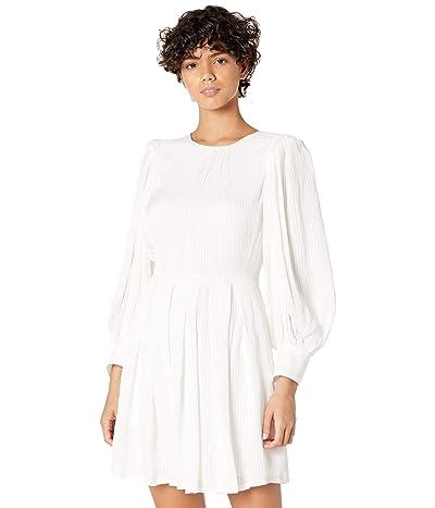 Rebecca Taylor Long Sleeve Shadow Stripe Dress Women