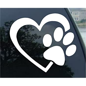 Windows Heart with Dog PAW Puppy Love 4 Walls and Other Stuff. Vinyl Decal Window Sticker for Cars Laptops Trucks Color Lavander