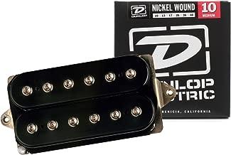 DiMarzio DP104 Super 2 Hot Humbucker Distortion Ceramic Guitar Pickup, Black w/ Strings
