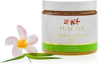 Pure Fiji Coconut Sugar Rub - Organic Exfoliating Sugar Scrub for Body, Noni, 15.5 oz