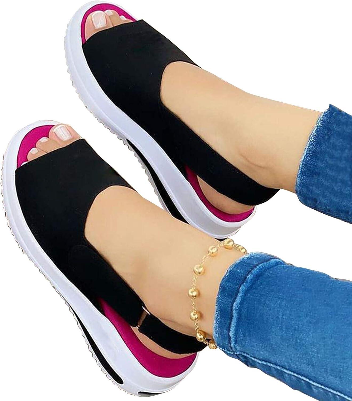 Masbird Sandals for Women Casual Summer Platform Flip Flops Ankel Strap Fashion Open Toe Comfy Beach Shoes