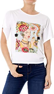 Desigual Womens Ts_Patty Short Sleeve T-Shirt - White - EUR