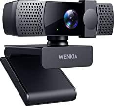 2021 WENKIA 1080p Webcam with Dual Stereo Microphones & Privacy Cover, HD USB Web Computer Camera with Auto Light Correcti...