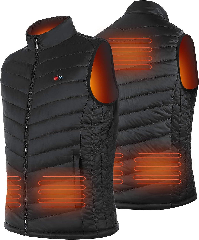 BIAL Heated online shop Vests for Men Cotton Jacket Coat Ranking TOP3 Warmer Lightweight