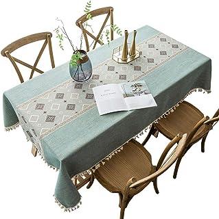 Yagoal Nappe Anti Tache rectangulaire Nappes Table Couvre Table à Manger Couverture Partie de Linge de Table Nappes Table ...