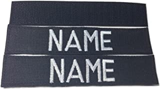 2 piece Black Name & US ARMY, POLICE Tape set, with Fastener, Customized